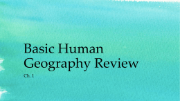 Basic Human Geography Review
