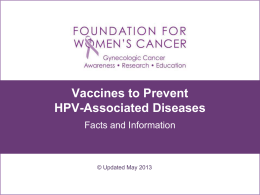 vaccines to prevent HPV-associated diseases