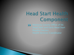Head Start Health Componenet - Monterey County Office of Education
