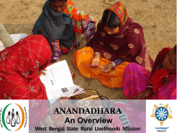 Anandadhara An Overview West Bengal State Rural