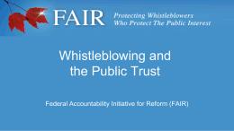 The PSDPA: Canada*s Federal Whistleblower