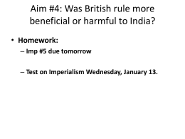 Aim: What were the characteristics of British Imperialism in India?