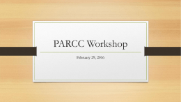 PARRC Workshop - Grandview Elementary School