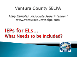 Powerpoint - Ventura County SELPA