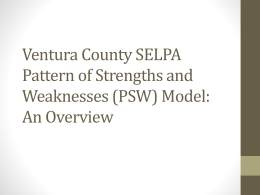 PPD Study Session - Ventura County SELPA
