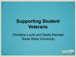 Who Are Student Veterans?