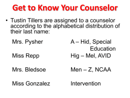 Get To Know Your Counselor