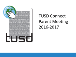 Parent Orientation Presentation 2016-2017