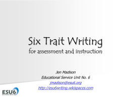 Trait by Trait - ESU6Writing