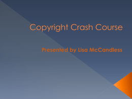 Copyright Crash Course - Butler at UTB / FrontPage