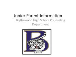 Junior Parent Information Breakfast