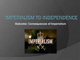 Imperialism Consequences