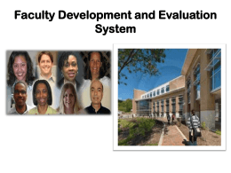 Faculty Development and Evaluation System