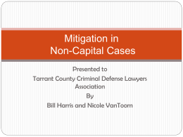 Mitigation in Non-Capital Capital Cases