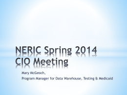 NERIC Spring 2014 CIO Meeting