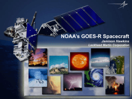 GOES-R Spacecraft – Jamison Hawkins, Lockheed Martin