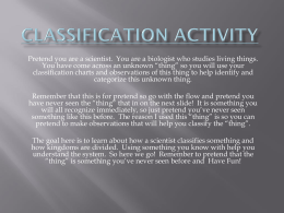 Classification Activity