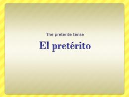 El pretérito - mendycolbert.com