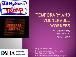Temporary and Vulnerable Workers