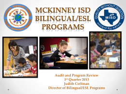 Bilingual/ESL Programs - McKinney ISD Bilingual/ESL
