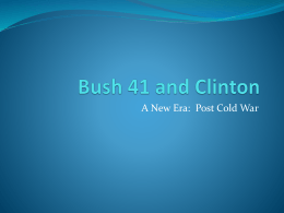 Bush 41 and Clinton