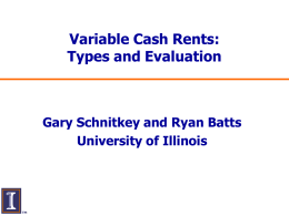 Variable Cash Rent Powerpoint
