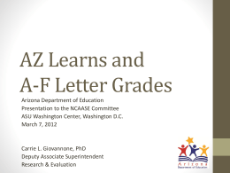 AZ Learns and AF Letter Grades