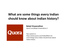 What are some things every Indian should know about Indian history