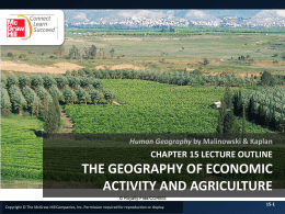 CHAPTER 15: THE GEOGRAPHY OF ECONOMIC ACTIVITY AND