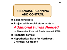 CHAPTER 4 FINANCIAL PLANNING AND CONTROL