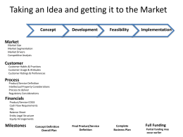 Product to Market Process