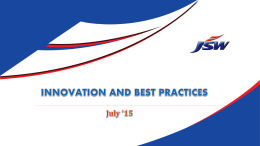 Innovation and Best Practices