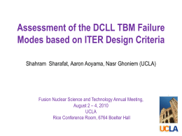 Assessment of the DCLL TBM Failure Modes based on ITER Design