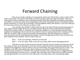 Levine Modified Chapter 5 Expert Systems Forward Chaining