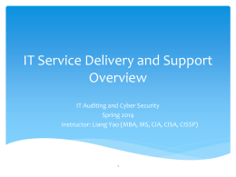 IT Services And Delivery