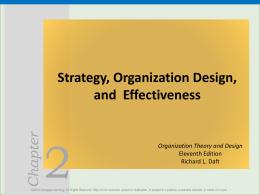 Strategy, Organization