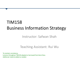 TIM158-2013-Lectures 1-3