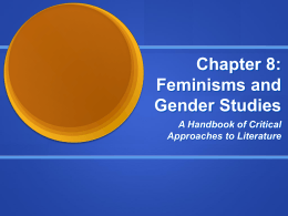 Chapter 8: Feminisms and Gender Studies