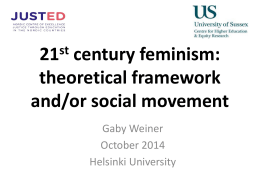 Feminism as a social movement and theoretical