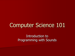 Programming with Sounds