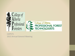 Finance Director - College of Alberta Professional Foresters