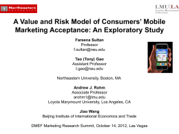 A Value and Risk Model of Consumers` Mobile