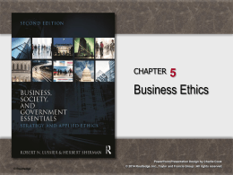 Business, Society, and Government: Strategy and Applied Ethics 2e