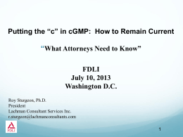 Compliance Environment June 2012