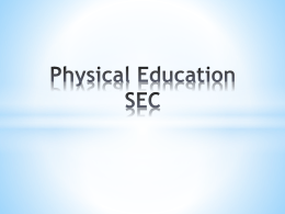 Physical Education SEC
