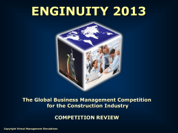 Enginuity 2013 Introduction