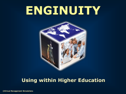 Enginuity: Using within HE