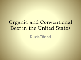 Organic and Conventional Beef