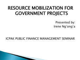 resource mobilization and financial management