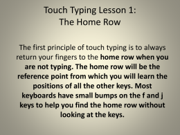 Touch Typing Lesson 1: The Home Row